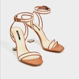 ZARA Vinyl High Heel sandals US 11 EU 42